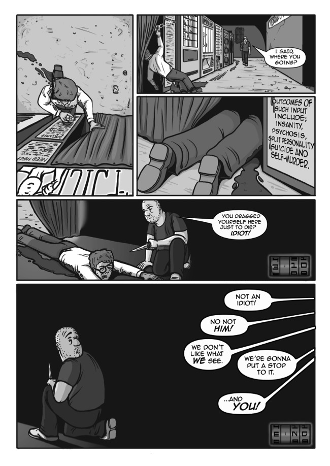 A short comic written by Virgil Yendel and illustrated by James